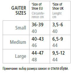 Altus-Gaiter-sizes